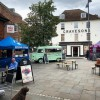 The Hertford Street food market is currently in...