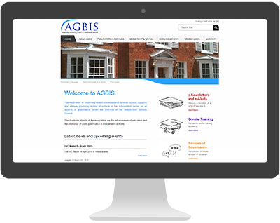 Screenshot of AGBIS