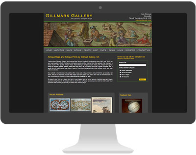 Screenshot of Gillmark Gallery