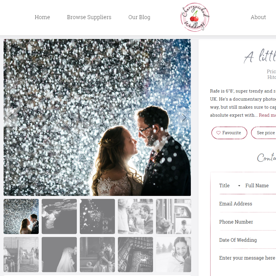 Cherrypicked Weddings Supplier Page