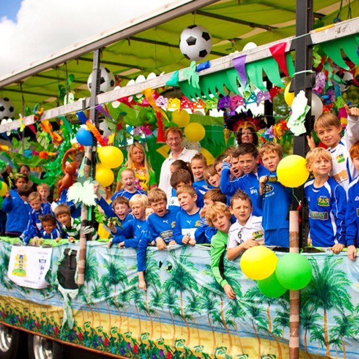 football-team-parade