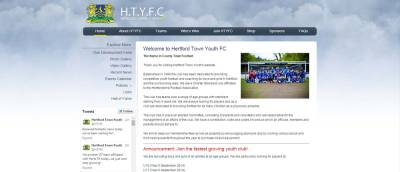 hertford town fc home page  screenshot