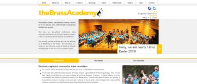 brass academy home page  screenshot