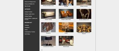 antiques products art e commerce screenshot