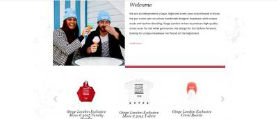 home page welcome product slider e commerce screenshot