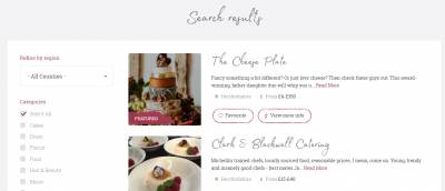 Cherrypicked Weddings Category Search