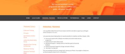 fitness personal training page copy banner content-managed-screenshot