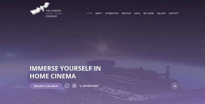 London Home Cinema Website showing good use of Video